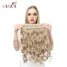 "SARLA 20"" 3/4 Synthetic Long Natural Clip In Hair Extensions High Temperature Curly Hairpiece 50 Colors Available 888"