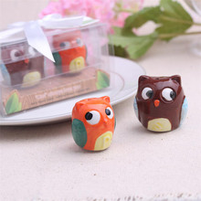 2pcs/set European Owl Ceramic Pot Seasoning Bottle Of Pepper Home Kitchen Cooking Tool Wedding Supplies Party Gifts(China)