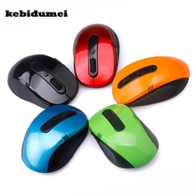 kebidumei Wireless 2.4GHz Optical Mouse USB 2.0 Optical Wireless Mouse USB Receiver Mice For Windows Linux Win 7 MAC Computer(China)