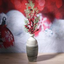 diy plastic artificial berry pearl flowers wedding christmas decorations for home living room bedroom vintage ornament - Vintage Plastic Christmas Decorations