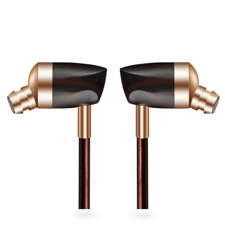 Newest BLON BOSSHIFI B3 Dynamic and Armature 2 unit Wood Earbuds HIFI Ebony Moving Iron&amp;Coil In Ear Earphone DIY Wooden Headset<br>