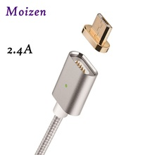 Moizen 2.4A Android Micro USB Charging Cable Magnetic Adapter Charger for Samsung HTC Xiaomi Huawei Blackberry Data Transmission