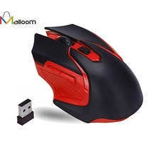 Malloom Brand Mouse Gamer 2.4GHz 3200DPI Wireless Optical Gaming Mouse Mice For Computer PC Laptop Mouse Gift High Quality