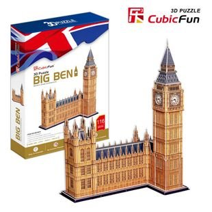 CubicFun 3D puzzle paper model Children gift DIY toy Big Ben hardcover edition worlds great architecture  MC087H<br><br>Aliexpress