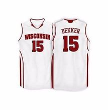 Wisconsin Badgers College #15 Sam Dekker Basketball Jerseys Retro throwback College jersey custom any size name and number(China)