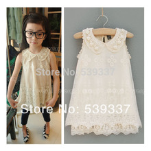 Girls Princess Dresses Vintage Inspired Ivory Cream Toddler Girls Dress Pearl Shabby French Chic Lace Sundress Clothes