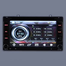 "Universal Double 2 Din Car DVD player GPS Navigation Car Autoradio Video/Mutimedia MP5 Player 6.2"" Car Stereo Audio with display(China)"