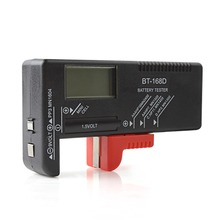 Portable LCD Digital Battery Tester Power Measuring Instrument of 9V 1.5V and Button Cell AA/AAA/C/D Battery(China)