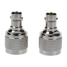 2015 Hot Hot Sale 2 Pcs Silver N Male Crimp to BNC Female RF Coaxial Cable Adapter(China)