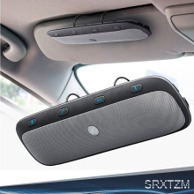 Sunvisor Wireless Bluetooth Handsfree Car Kit Speakerphone Audio Music Speaker for iPhone Samsung Smartphones Bluetooth Speaker(China)