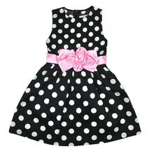Kids Toddler Girls Princess Dress Sleeveless Polka Dots Bowknot Party Princess Dresses Summer Dress(China)