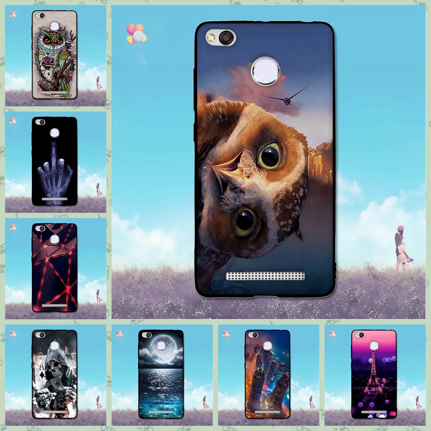 Newest Colorfull Design Case Xiaomi Redmi 4X Soft TPU Back Silicone Cover Xiaomi Redmi 4 X Protection Shell Cute Case