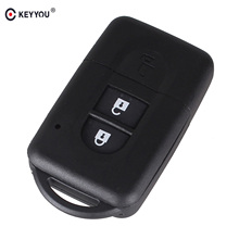 KEYYOU New Replacement Remote Key Shell Case Fob Keyless Entry 2 Button for Nissan Micra Xtrail Qashqai Juke Duke