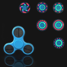 Buy Finger Rock Fidget Spinner Stress Hand Spinner Led Glow Dark Figet Spiner Cube Anti-stress Finger Spinner Toys Adult for $3.61 in AliExpress store