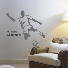 2014 Brazil World Cup Large Soccer Ball Football Wall Sticker For Boys Bedroom Decor Wall Art Removable Decal Sport Poster Mural(China)