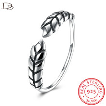 DODO 100% 925 Sterling Silver Fine Jewelry Wheat Design Open Ring For Women Antique Vintage Collection Anel Bijoux Femme DR163(China)