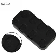 XZJJA Black Rectangle Euro Dollar Coin Dispenser Plastic Coin Purse Holders Storage Box Car on-board Coin Pocket Organizer