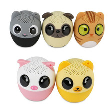RACAHOO Mini Wireless Bluetooth Loudspeaker Portable Animal Cartoon Music Player Outdoor Waterproof Retardant Speaker For Home(China)