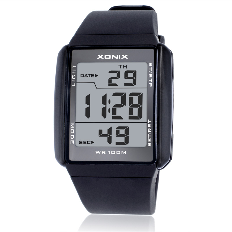 Hot!!!XONIX Fashion Lovers Sports Watches Waterproof 100M Men and Women Digital Watch Swimming Diving Hand Clock Montre Homme<br><br>Aliexpress