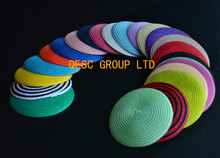 Wholesale. NEW 14cm Round PP straw base Disc Saucer Fascinator Base for sinamay fascinator  hair accessory church wedding derby