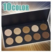 10 Color Mineral Pigment Eyeliner Eyeshadow Cream Palette Smoky Eyes Makeup Set With Brush Wholesale