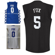men's 2017 Draft  5 DeAaron Fox  Basketball Jersey 2017 New Men's Ncaa college  Jerseys Embroidery and 100% Stitched
