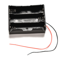 1PC New Plastic 3x18650 Battery Storage Case Box Holder For 3 x 18650 3.7V Battery Pack Case With Wire Lead