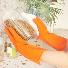Long Sleeve Kitchen Antiskid Waterproof Household Glove Warm Dishwashing Glove Water Dust Stop Cleaning Latex Rubber Gloves