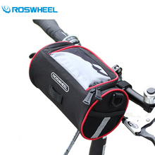 Roswheel Folding Bike Bag PVC Polyester Multifunction Bicycle Handlebar Bag Cycling Front Frame Bag Basket Bike Accessories(China)