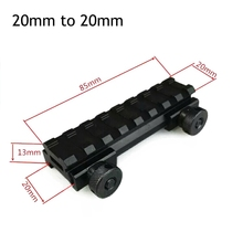 Tactical 8-slot Riser Mount 20mm to 20mm Weaver Picatinny Rail Mount(China)