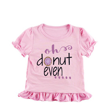 personalized ruffle tee shirt toddlers pink soft dress modern tshirts girls oh donut even