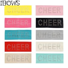 Girls Rhinestone Cotton Headband Sweatband Head Sweat Band Tennis Wide Hairbands For Girl Kids(China)