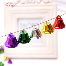 20PCS/Lot Metal Jingle Bells Small Loose Beads Festival Party Decor/Christmas Tree Decorations/DIY Crafts Accessories Kids Gift(China)