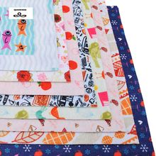 Print NonWoven Felt Fabric Thickness Polyester Soft Felt Of Home Decoration Pattern Bundle For Sewing Dolls Crafts 8pcs 19x28cm(China)