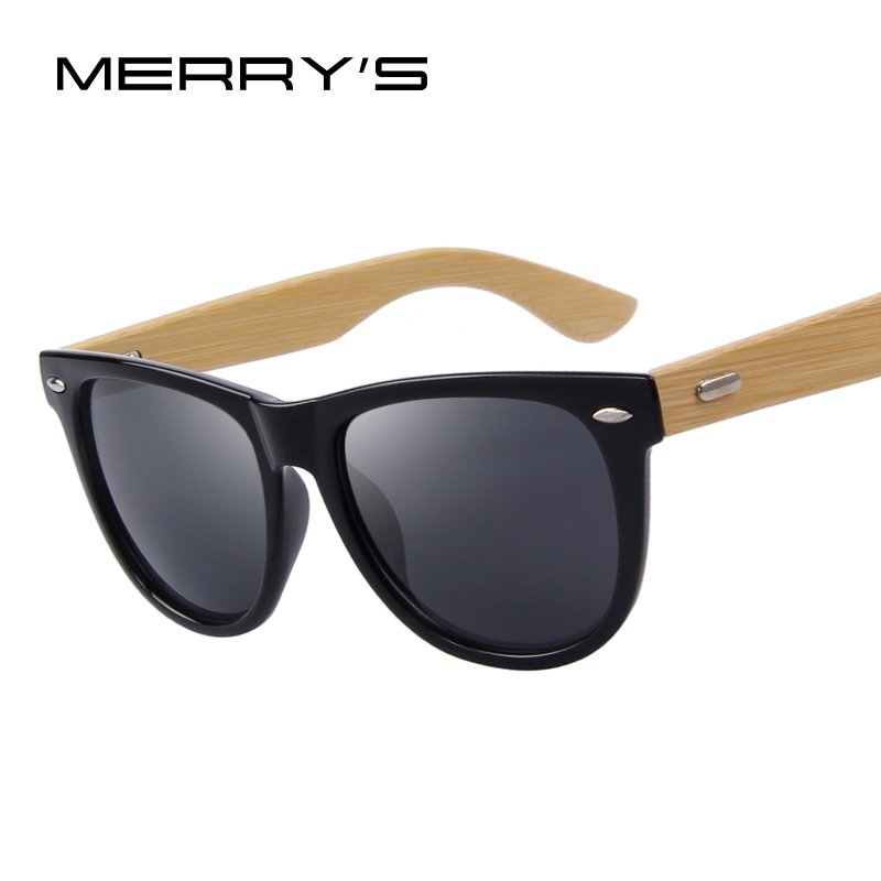 MERRYS Fashion Women Sunglasses Bamboo Temple Men Sunglasses Oculos de sol UV400<br><br>Aliexpress
