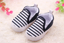 Brand Children Baby Kids Boys Shoes Non-Slip Striped Toddlers First Walkers Bebes Zapatos Ninas Newborn Infantil(China)