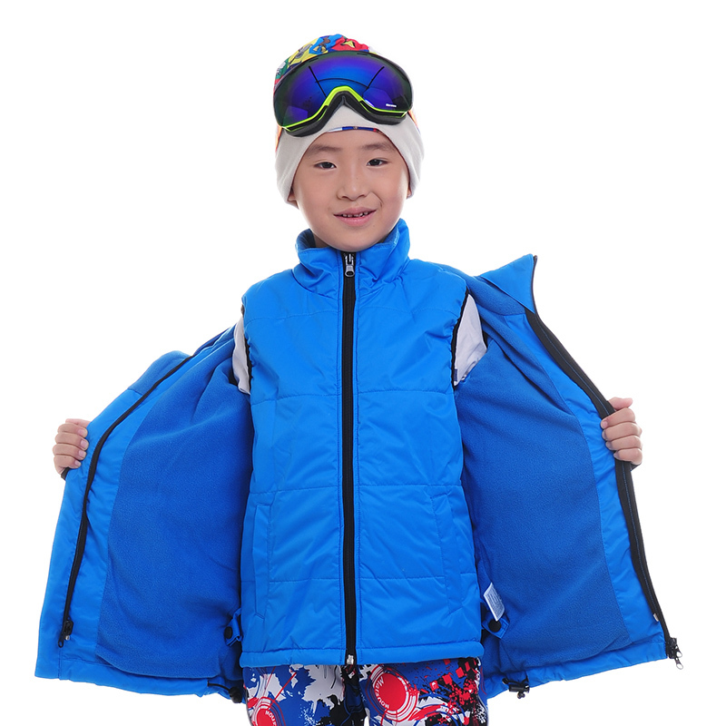 Children Snowboard Jackets Twinset Outdoor Skiing Trousers Boys Girls Ski Pants Warm Jacket Waistcoat Pants Three In One Ski Set<br><br>Aliexpress