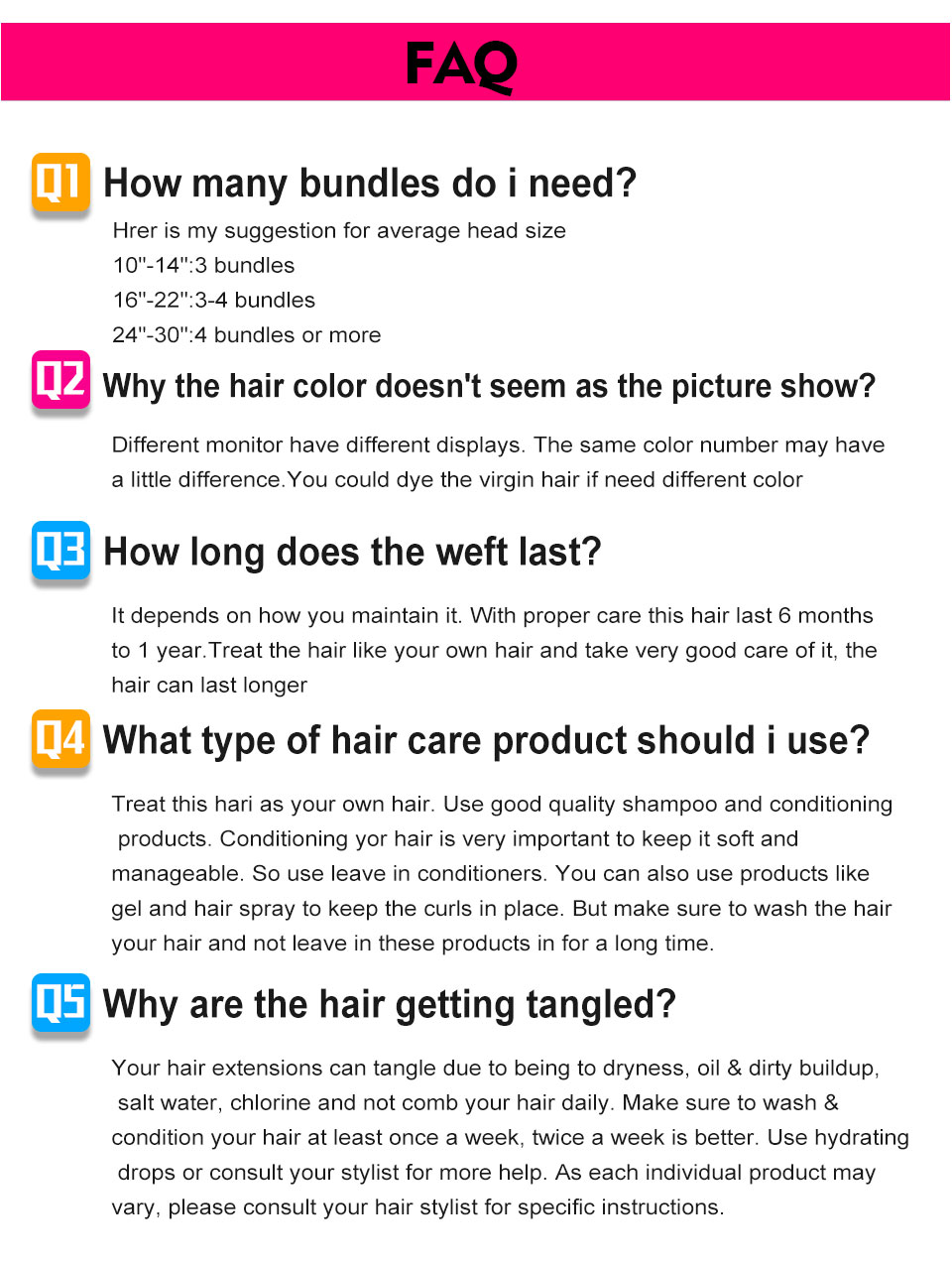 7 hair bundles