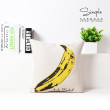 Banana Printed Pillow Decorative Sofa Cushion Pillowcase Bedding Set Confortable Cotton And Linen Cartoon Pig Wholesaler