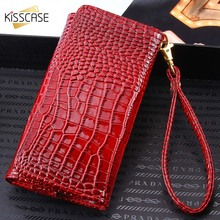 KISSCASE Luxury Crocodile Pattern Phone Case For iPhone 5 5s 6s 7 6 Plus For LG G5 G3 5.5 inch Universal Cover Bag Accessories(China)