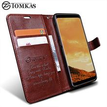 Wallet Case For Samsung Galaxy S8 / S8 Plus TOMKAS Original PU Leather Flip Phone Bag Cover For Samsung Galaxy S8 Plus Cases(China)