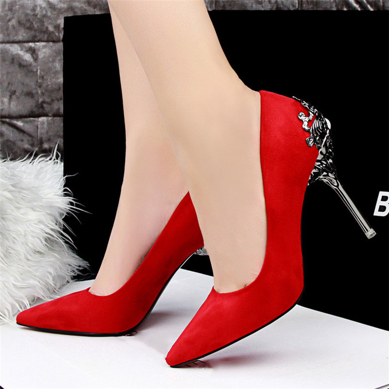 Sexy High Heels Shoes Woman Pumps Red Gold Silver High Heels Shoes Woman Ladies Wedding Party Shoes 2018 19