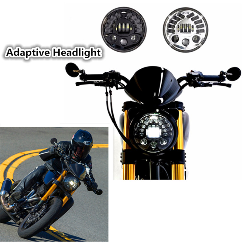 Adaptive Motorcycle LED Headlight drl led daytime running light Parking lamp Turn Signal Light For Harley Moto Adaptive Headlamp<br><br>Aliexpress