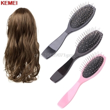 Professional Anti Static Steel Comb Brush For Wig Hair Extensions Training Head #H027#(China)