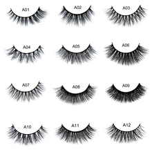 False eyelash 3D Mink Eyelashes Cruelty Free Natural Extension Long Cross Thick Mink Lashes Handmade Eye Lashes 34 style A01-A22(China)