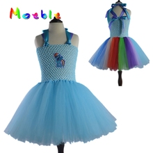 Sweet Rainbow Baby Girls Tutu Dress Kids Cartoon Tulle Tutu Dress Girl Dress Up Party Wedding Dress Vestido Infantil DT-1622
