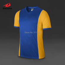 Top quality Whole price Custom Soccer Jersey tops Short-sleeve Quick Dry Top quality  Adult Kids V-neck 100%polyester