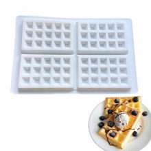 White Square Silicone Non-Stick Muffins Mold Baking Mould Supplies Cakes Decorating Tools(China)