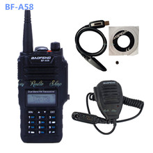 Baofeng BF-A58 walkie talkie handheld cb waterproof radio BF A58 FM radio transceiver 1800mAh battery + usb cable + speaker mic