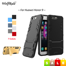 For Cover Huawei Honor 9 Case Shockproof TPU & PC Holder Mobile Phone Case For Huawei Honor 9 Cover Honor9 5.15'' WolfRule [(China)